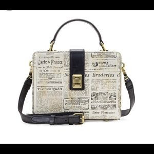 Patricia Nash Newsprint Box Bag